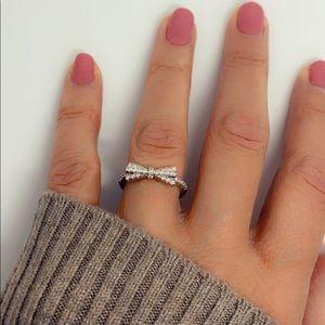 Diamond CZ Statement Bow Tie Ring